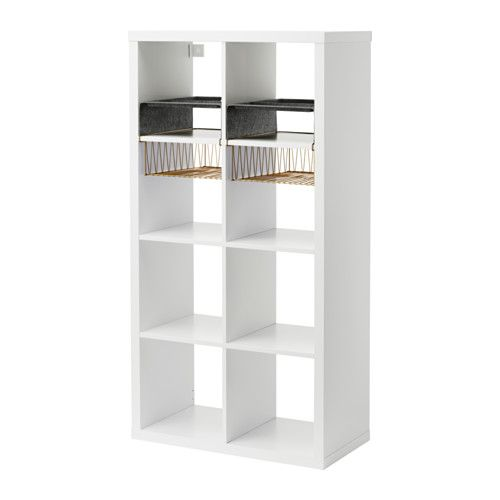 IKEA - KALLAX, Shelf unit with 4 inserts, , You can use the inserts to customize KALLAX shelf unit so that it suits your storage needs.Choose whether you want to place it vertically or horizontally to use it as a shelf or sideboard.Compartments make it easy to organize pens, flatware, etc.Helps you keep track of important papers, letters and magazines.Soft felt protects your things and keeps them neatly in place.