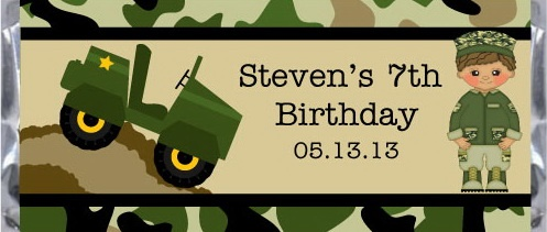 #Army #Birthday Candy Bar Wrappers  for a kids birthday #party