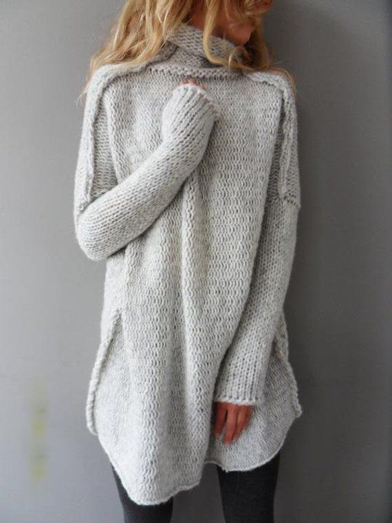 7129d9c0da3d24 Handmade Alpaca Oversized Chunky loose knit woman sweater features relaxed  fit