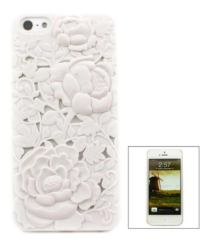 White Chrysanthemum iPhone Case | Awesome Selection of Chic Fashion Jewelry |