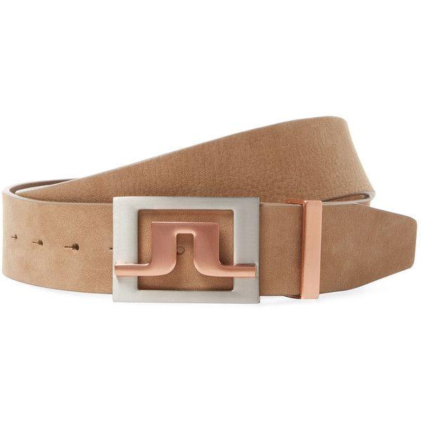 J. Lindeberg Golf Men's Slater 2.0 Leather Belt - Cream/Tan, Size 95 (190 BRL) ❤ liked on Polyvore featuring men's fashion, men's accessories, men's belts, mens tan leather belt, mens leather belts, mens tan belt and mens belts