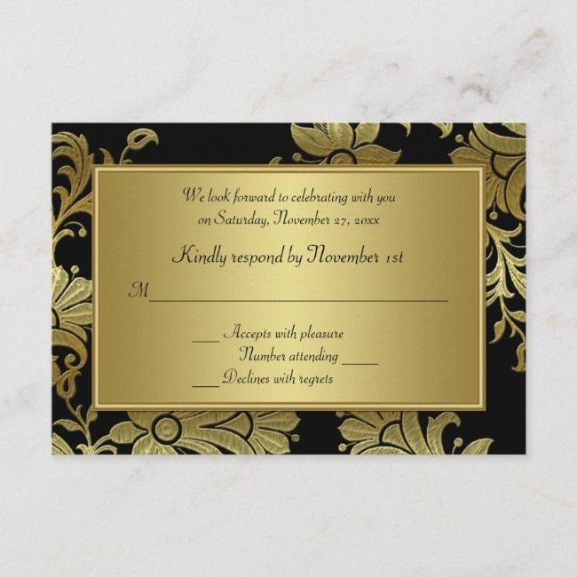 Create Your Own Response Card Zazzle Com 50th Wedding Anniversary Invitations Rsvp Card Rsvp Wedding Cards
