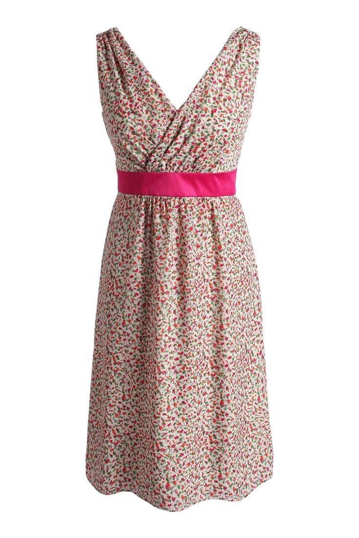 Esprit - zijige jurk met print. LEUK!