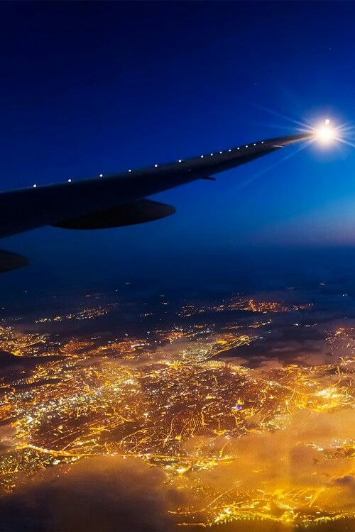 Night flight - The World looks so beautiful from above