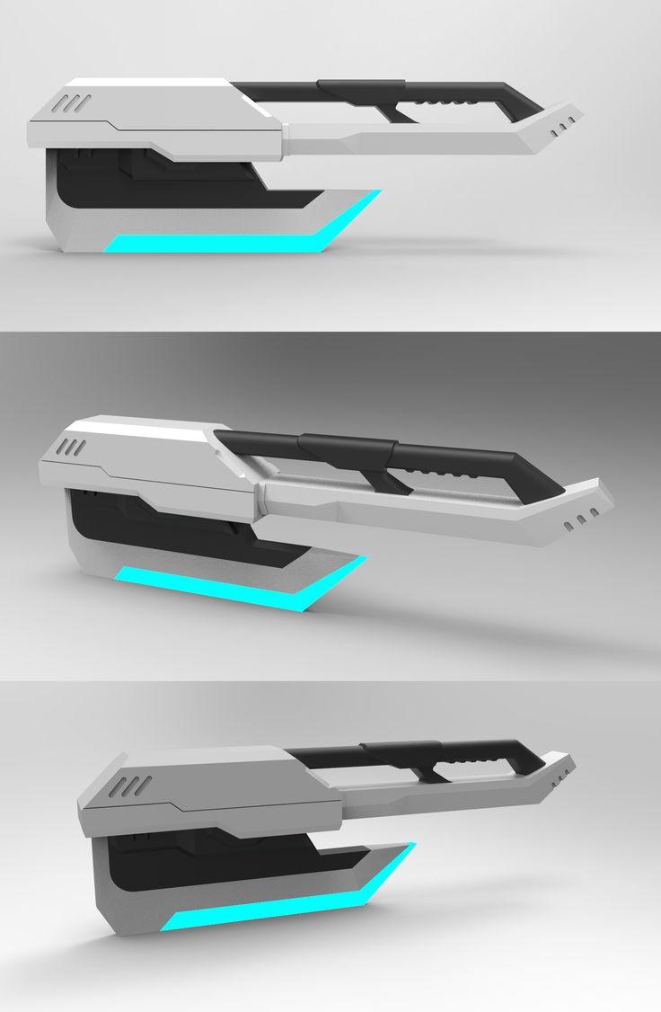 3D rendering _ sci-fi Axe
