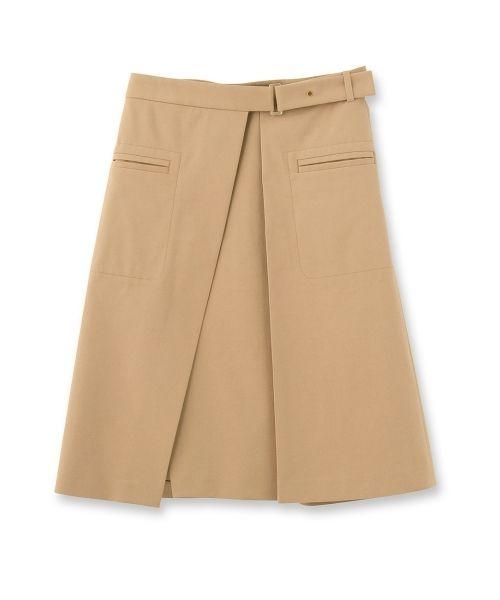 aquagirl(アクアガール) ボックスプリーツ風巻きスカート