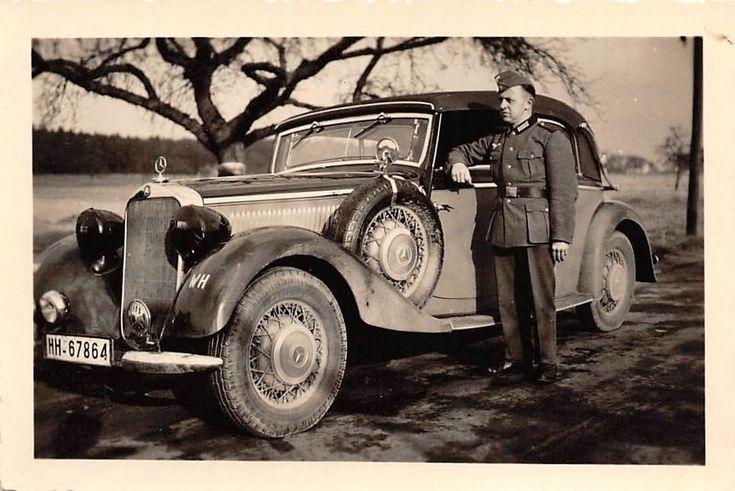 Soldat am PKW Mercedes 230 Kabriolett | eBay