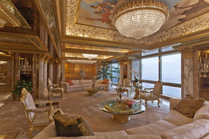 Peek Inside Melania Trump's World (And Penthouse!) #refinery29  http://www.refinery29.com/melania-trump-interview-pictures#slide-12  The Trumps' sitting room. ...