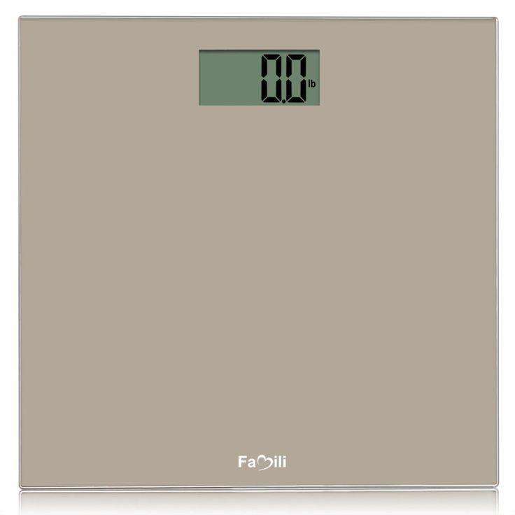 Famili Fm272Bt Digital Bathroom Body Weight Scale 400Lbs/180Kg, Golden