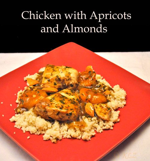 Chicken Tagine with Apricots and Almonds, quick and easy dinners