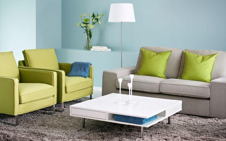 Canap deux places kivik avec housse ten gris clair fauteuils mellby avec h - Canape turquoise ikea ...