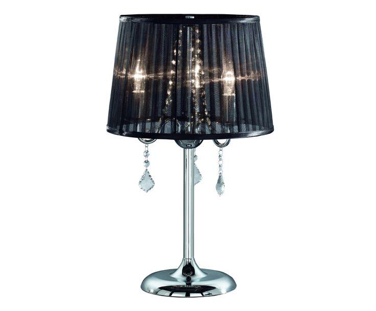 Lampada da tavolo in metallo e organza Gocce - 55x35 cm Dalani Home ...