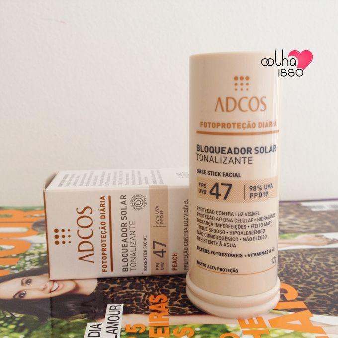 Testei protetor solar tonalizante stick da Adcos cosméticos