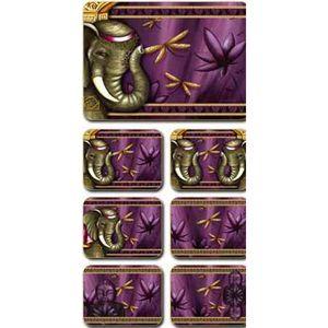 Lisa Pollock Tajah placemats and coasters, set of 6