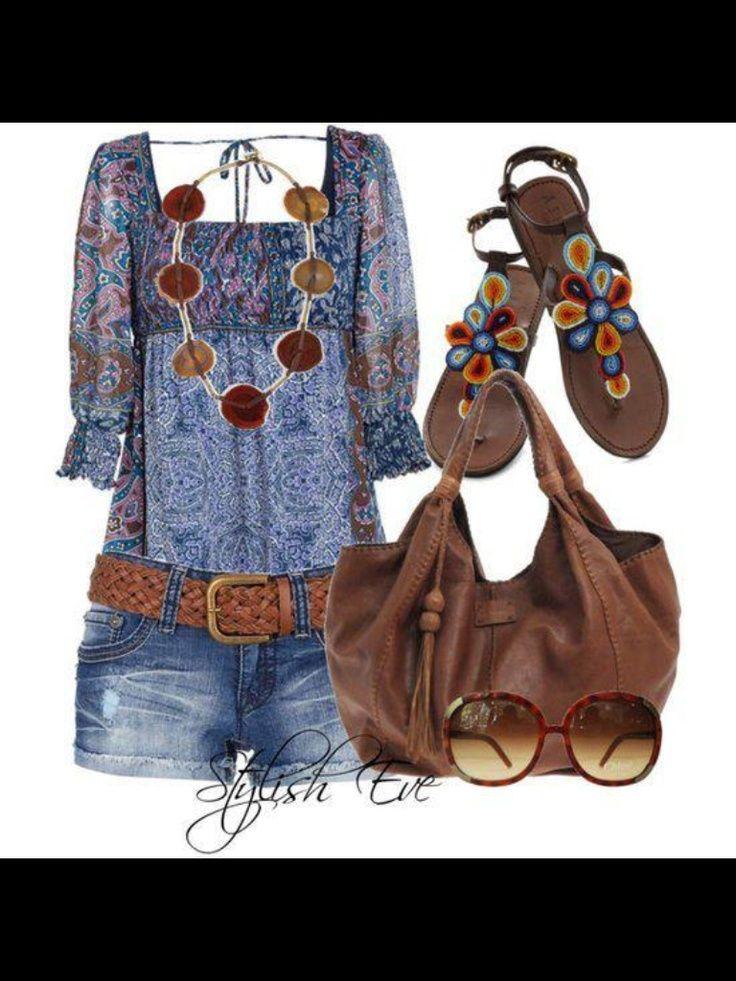 ☮ American Hippie Bohemian Boho Style Festival Outfit ❤️