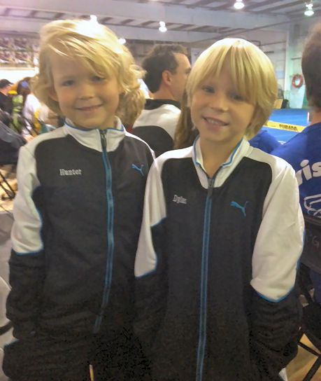 A snapshot of my sons during one of their gymnastics meetings. I love being a Mom at Last to my Little Gymnasts