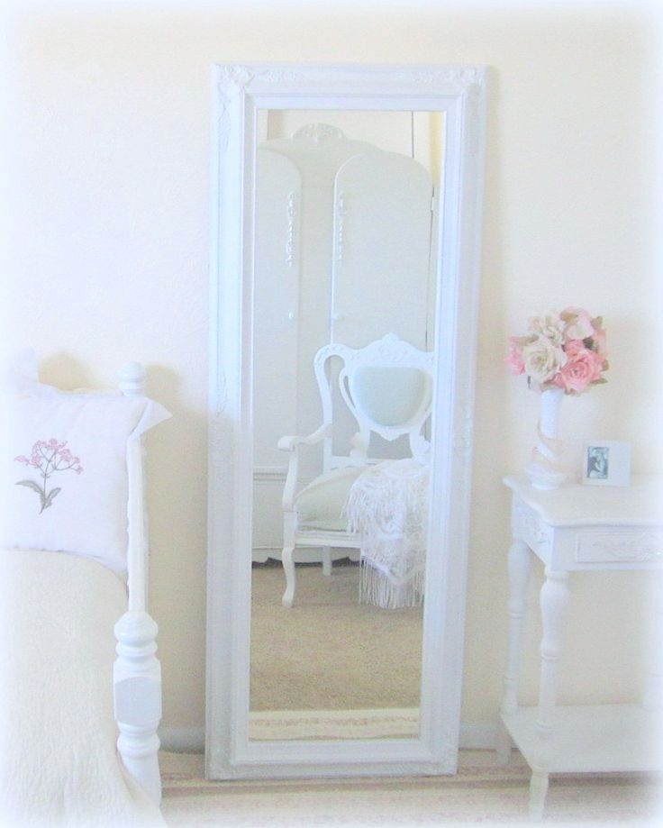 $329  Large Full Length Mirror DECORATIVE MIRROR For Sale Long Leaning Mirror French Country Framed Mirror Shabby Chic Home. $329.00, via Etsy.