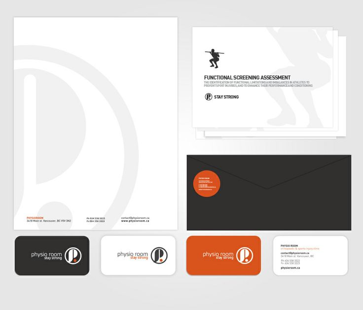 PhysioRoom Vancouver Identity Design.