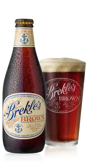 Anchor Brewing Brekle's Brown | that elusive beer we keep trying to create, malty + Citra hops that add lemon notes [attempts to brew in October  April ended in a flat beer  a beer that exploded bottles - eff]