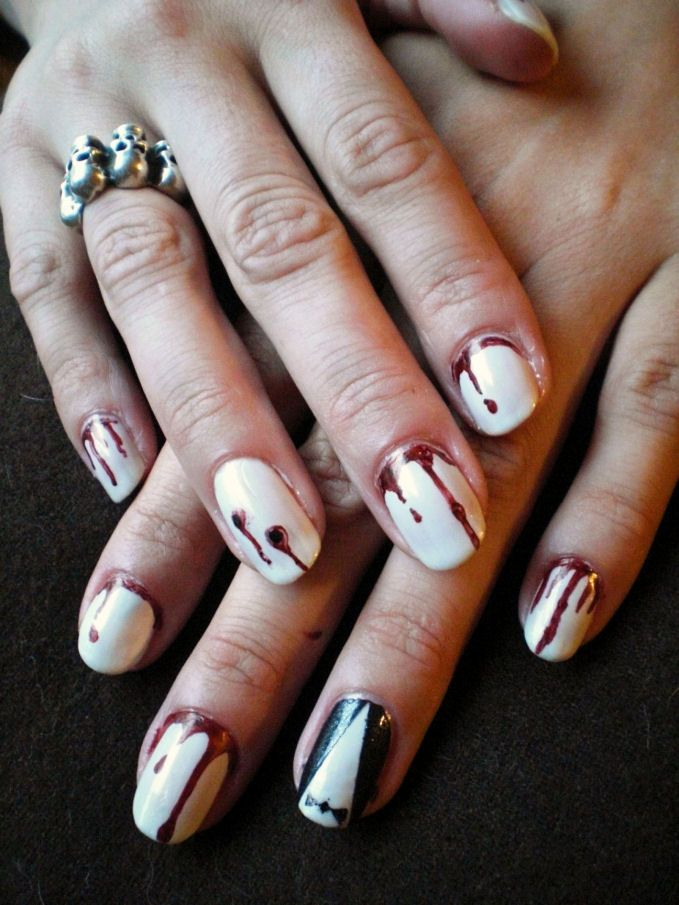 Concrete and Nail Polish: Universal Classic Monsters Halloween Nails