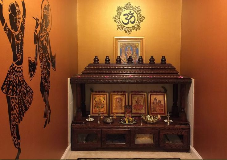 Mandir Pooja Room Designs in Hall