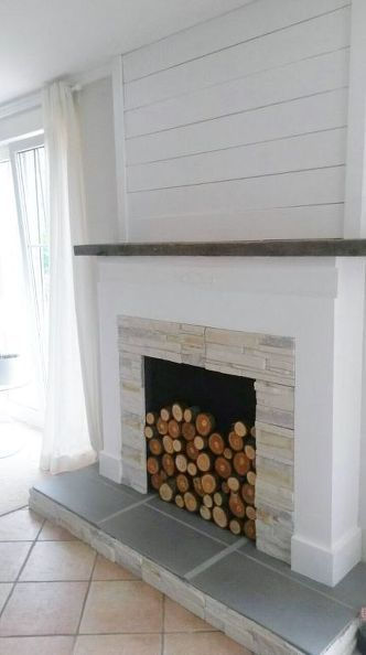 shiplap fireplace remodel - Google Search