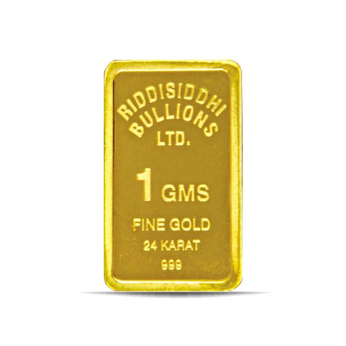 1 Gm 24 KT Gold Bar 999 Purity