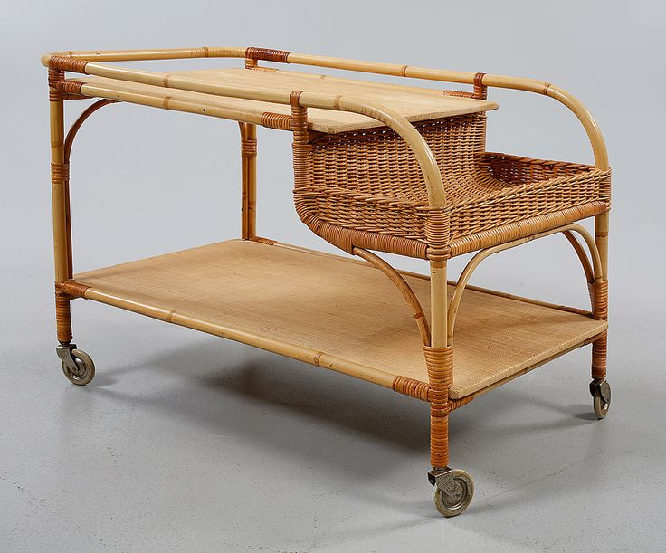 "Trolley ""892"", designed by Josef Frank, Firma Svenskt Tenn, mid 20th century."