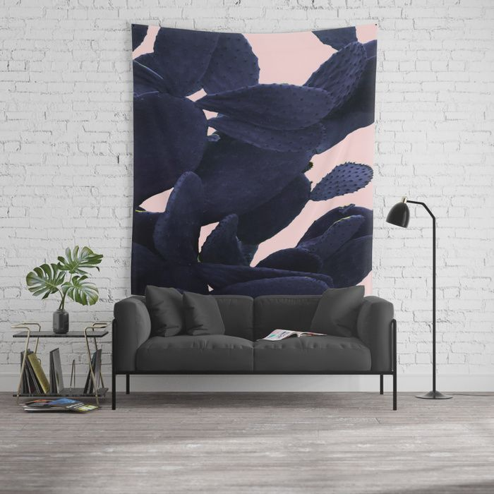 15% Off + Free Shipping on all Tapestries -  Purple Cactus On Pink Wall Tapestry by ARTbyJWP from Society6 #walldeco #wallhanging #walltapestry #homedecor #cactusprint -Available in three distinct sizes, our Wall Tapestries are made of 100% lightweight polyester with hand-sewn finished edges. Featuring vivid colors and crisp lines, these highly unique and versatile tapestries are durable enough for both indoor and outdoor use. Machine washable.
