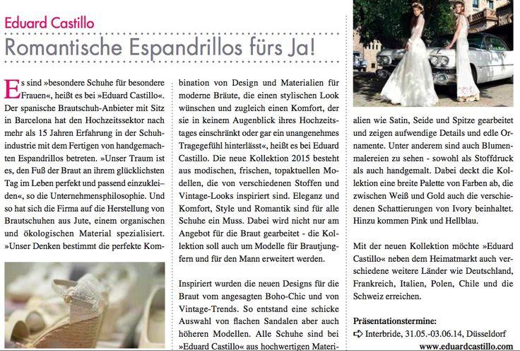 Messeausgabe HochzeitNews 2014 zur Interbride