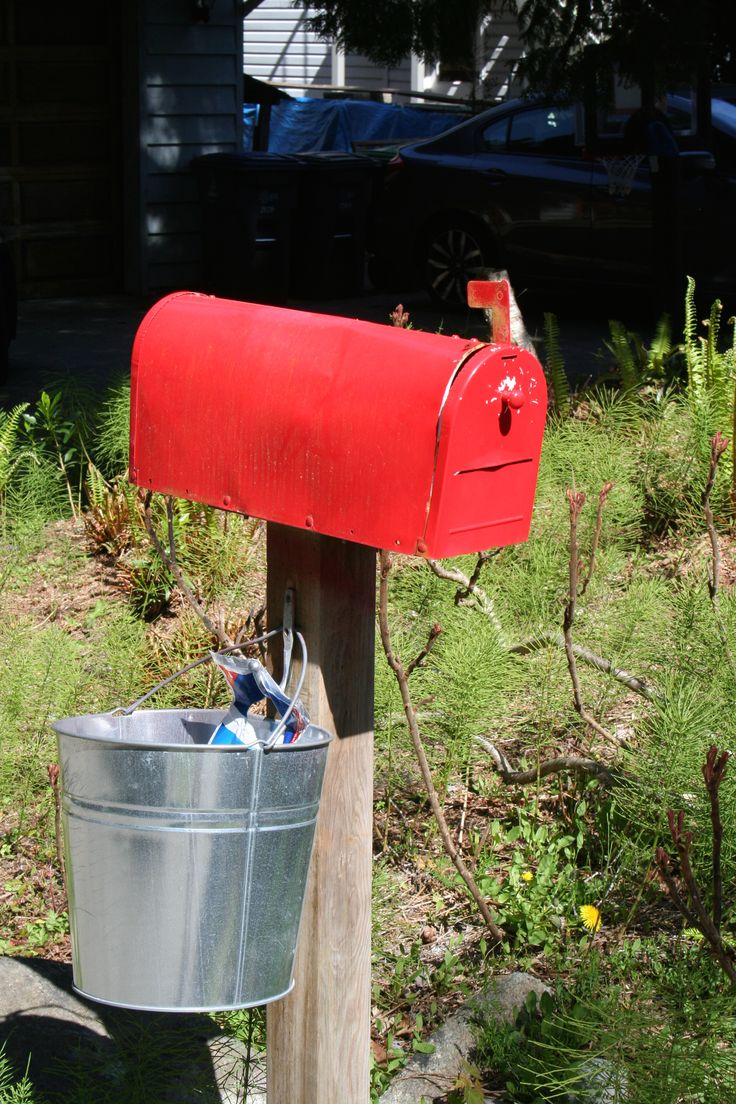 Mail's here! Love this red old fashioned mailbox.  Check out Stonecropsister.com style.