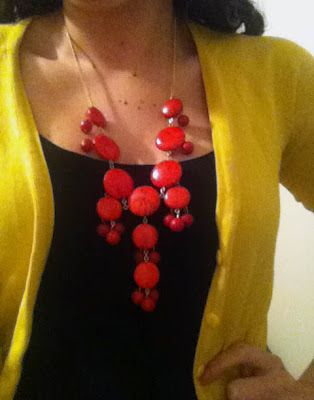 DIY J. Crew Bubble Necklace- I love this piece but it's so expensive, this is a pretty good alternative