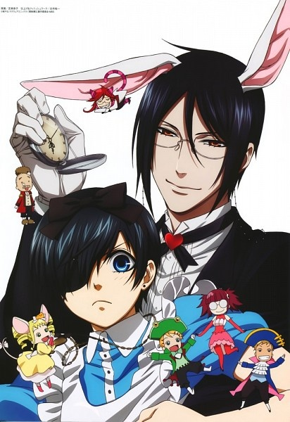 Black Butler / Alice in Wonderland :: This is mostly the mansion's occupants and staff, so what's Grell up to?