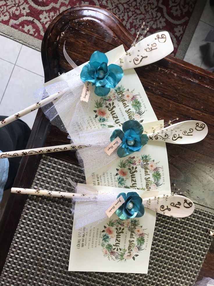 Wooden Spoon Bridal Shower Invitations DIY