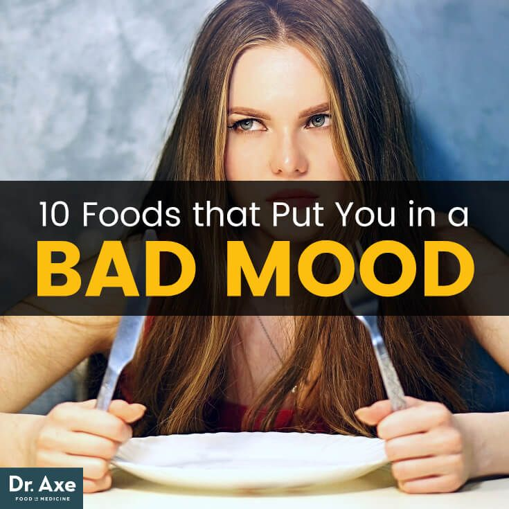 Bad mood foods - Dr. Axe http://www.draxe.com #health #holistic #natural