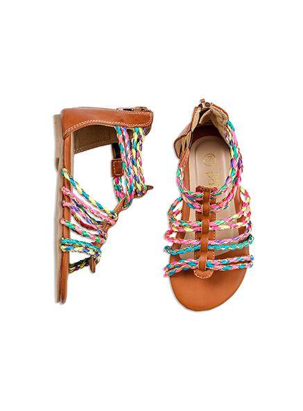 #PumpkinPatchWishlist Pumpkin Patch -  - girls braid gladiator sandal - S5FW30039 - tan - 6 to 5l