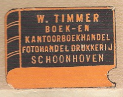 Boekhandel W. Timmer, Schoonhoven