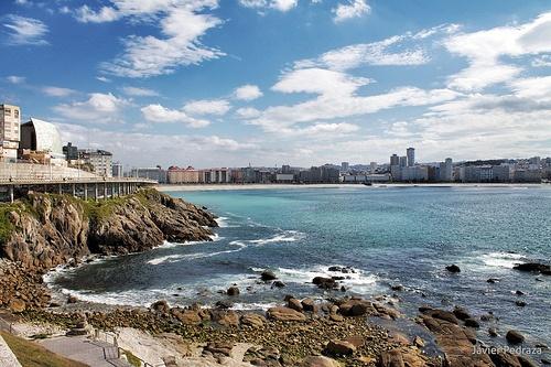 Playa orzan a Coruña