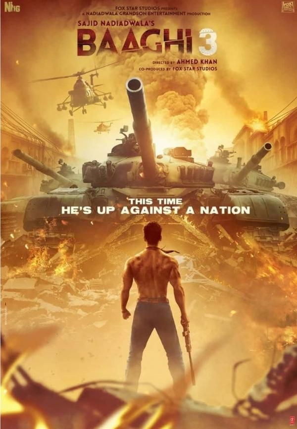 Baaghi 3 Poster Release Tiger Shroff New Look In Film Is Stunning