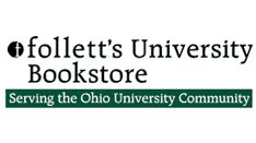The Ohio University Follett's Bookstore is located on the corner of Court St. and W. Union St., across from Whit's Frozen Custard. In addition to a huge selection of OU apparel and academic supplies, Follett's offers hundreds of textbook titles in their expansive downstairs area. Books are available both to buy and rent.