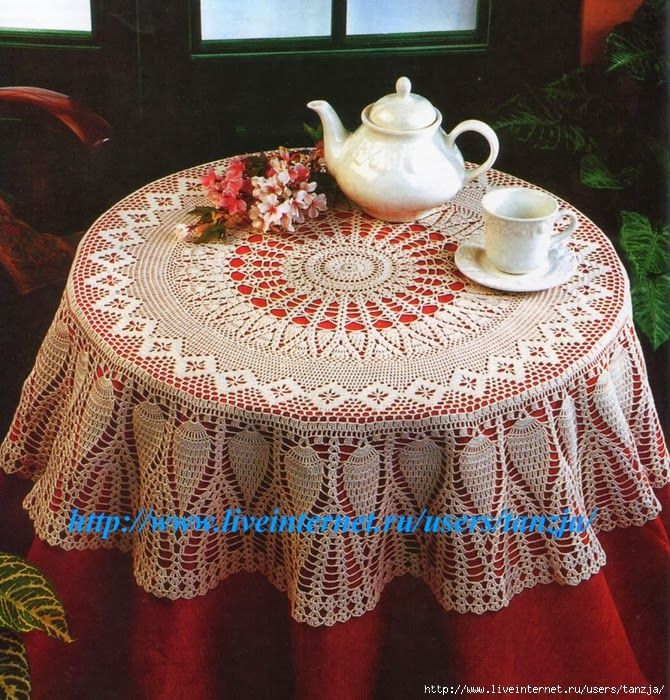 3    Crochet Knitting Handicraft: The festive tablecloth