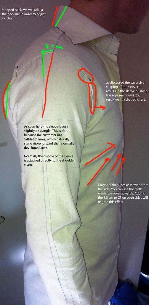 More fabulous detail from Ruben Bakker on his fitting process and analysis: Analyzing a fitting | Tailored Shirt