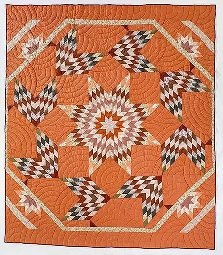 Unusual broken star quilt variation from Smithsonian posted by B Brackman