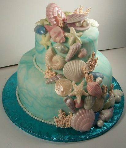 Beautiful seascape cake  mermaid cake