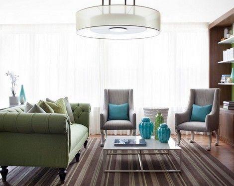 дизайн гостиной с диваном честерфилд