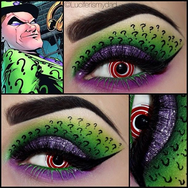 Batman Makeup (My favourite is the Riddler theme, but the others are also amazing!)