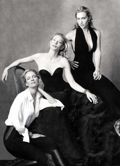Uma Thurman, Kate Winslet and Cate Blanchett by Annie Leibovitz this would be a great sister's shot