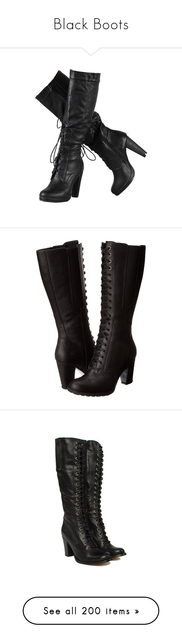"""""""Black Boots"""" by christy-leigh-1 ❤ liked on Polyvore featuring shoes, boots, heels, sapatos, high heel boots, black knee boots, black knee high boots, faux-suede boots, knee heel boots and black"""