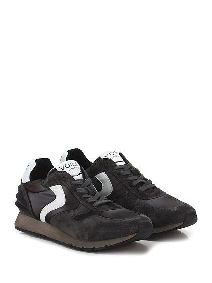 Voile Blanche - Sneakers - Uomo - Sneaker in camoscio, pelle e tessuto tecnico con suola in gomma. Tacco 30, platform 15 con battuta 15. - NERO\GRIGIO - € 205.00