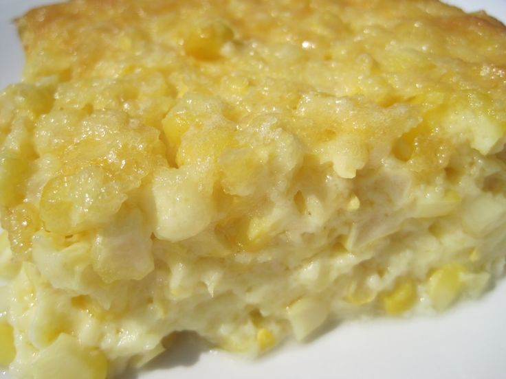 Old Fashioned CORN PUDDING  OLD FASHIONED CORN PUDDING  12-14 ears fresh corn, husk & silks removed 2 cups whipping cream 1/2 cup butter, melted 6 large eggs 1/4 cup plus 2 tablespoons sugar  1/4 cup all-purpose flour 2 teaspoons baking powder 1 teaspoon kosher salt (add more or less)